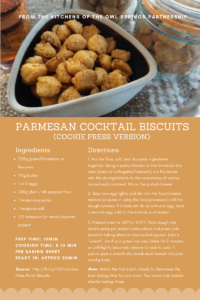 Parmesan Cocktail Biscuits (Cookie press version)