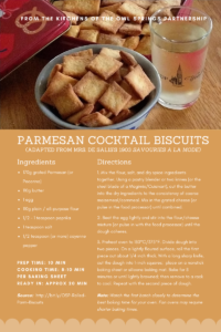 Parmesan Cocktail Biscuits, Rolled Version
